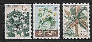 CAMBODIA  149-151 MINT HINGED, PLANTS SET 1965