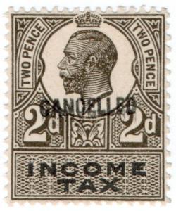 (I.B) George V Revenue : Income Tax 2d (1914)