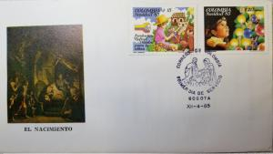 L) 1985 COLOMBIA, CHRISTMAS, CHILDREN, THE BIRTH, RAFAEL POMBO FOUNDATION FOR