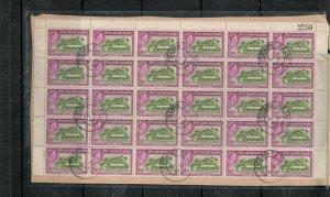 PITCAIIRN ISLANDS (P2212B)  KGVI 8D  SG6A   SHEET # BLOCK  OF 25 CDS  VFU