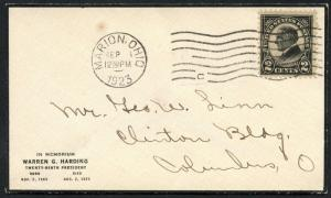 #610 FIRST DAY COVER MARION, OHIO PLANTY CV $800 BT349 HS110875