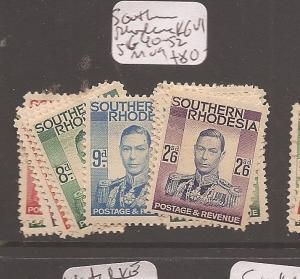 Southern Rhodesia KGVI SG 40-52 MOG (7dbc)
