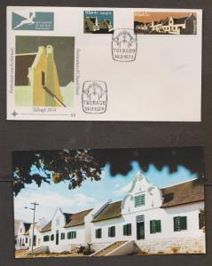 SOUTH AFRICA Scott # 400 FDC Restoration Of Church Street Tulbagh With Enclosure