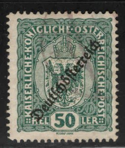 Austria Osterreich Scott 191 Used  Coat of Arms stamp w Republic opt