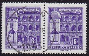 Austria - 1960 - Scott #629 - used pair - Graz
