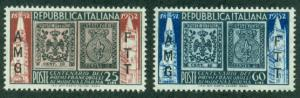 Trieste #146-147  Mint  VF NH  Scott $4.00  Stamps on Stamps