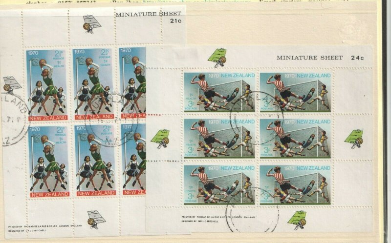 1970 NEW ZEALAND - SG: MS 942 - HEALTH - SPORT - USED