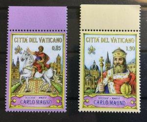 Vatican City Sc# 1566-1567 Complete Set MNH - Charlemagne