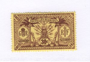 New Hebrides #15 MH - Stamp - CAT VALUE $4.00