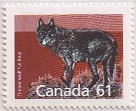 Canada Mint VF-NH #1175a THE RARE PERF 13,1 Timber Wolf