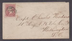 **US 19th Cent Union Patriotic, SC# 64b Fort Sckyler, NY 2/9/1863, No Contents