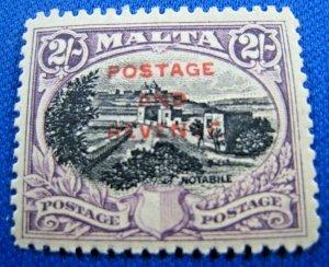 MALTA  1928  -  SCOTT # 162   MH   (Hm4)
