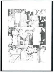 Burkina Faso 1997 Pope John Paul II Princess Diana Black Proof RARE