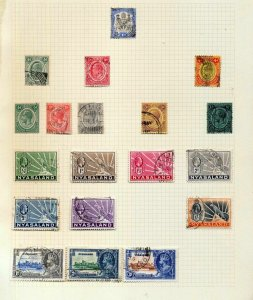 NYASALAND EVII/QE Used (Appx 45 Items) CW12