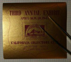 CCC Annual Exhibit Hotel Whitcomb San Francisco CA 1941 Philatelic Souvenir Ad