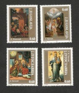 YUGOSLAVIA-MNH SET-ART-ICONS-1994.