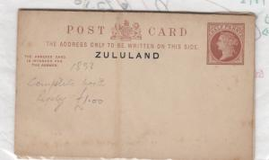Zululand QV 1893 Postal Stationery With Reply Card Unused J1723