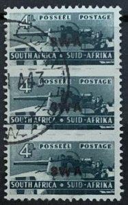 SOUTH WEST AFRICA 1943-4 WAR EFFORT BANTAMS 4d SG129 FINE USED TRIPLE CAT £23