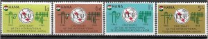 Ghana ITU Centenary set of 1965, Scott 204-207 MNH