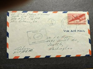 APO 837 FORT GULICK, CANAL ZONE Censored WWII Army Cover 214th QM Det