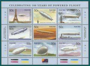 Nauru 2003 Powered Flight, Sheetlet, MNH 518,SG570a