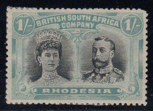 Rhodesia, SG 152 var, MHR Gash in Ear variety