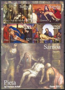 Samoa MNH S/S 1207 Easter Paintings 2015