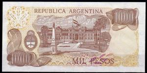 Argentina 1000 Pesos Banknote Uncirculated Mint