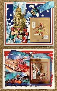 Stamps Gold Deluxe Bloc + S/S Olympic Games Atlanta 96 Madagascar Imperf.