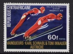 Central African Republic  #256 1977 MNH  60fr ski-jump Olympics