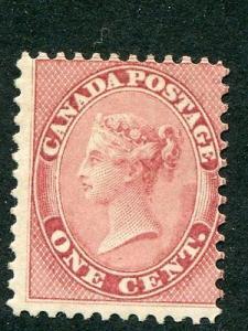 Canada #14 Mint O.G.   lightly hinged -  Lakeshore Philat...