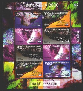 Indonesia. 1998. Small sheet 1787-89. Minerals, geology. MNH.