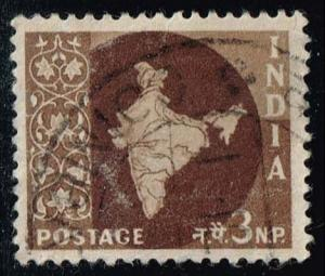 India #304 Map of India; Used (0.25)
