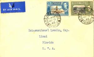 Trinidad 6c KGVI Discovery of Lake Asphalt and 24c KGVI Government House 1940...