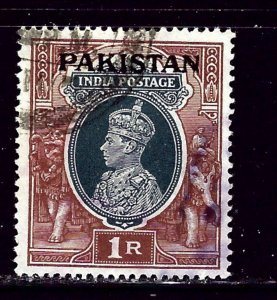 Pakistan O10 Used 1947 overprint