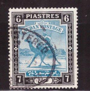 SUDAN Scott 47 Used Camel mail stamp