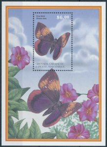 [108923] Carriacou & Petite Martinique 2001 Insects butterflies moths Sheet MNH
