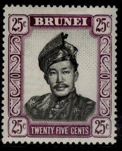 BRUNEI QEII SG109, 25c black & purple, LH MINT.