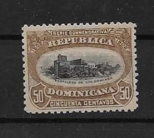 DOMINICAN REPUBLIC STAMP VFU #AGOSTOK19