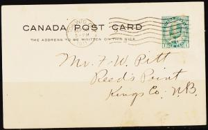 Canada. 1911 1c(Pre-Stamped Postcard) Fine Used