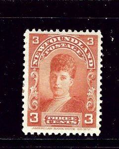 Newfoundland 83 Unused 1897 issue paper remnant on back  #3