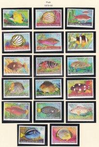 Cocos Islands # 34-50, Fish, NH, 1/2 Cat.
