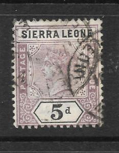 SIERRA LEONE  1896-97   5d    QV   FU  SG 48