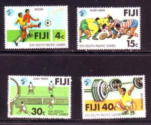 Fji Sc 405-8 1978 S Pacific Games stamp set mint NH