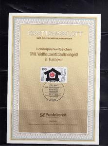 GERMANY GERMANIA ALLEMAGNE 16 7 1992 HOME ECONIMICS CONGRESS HANNOVER  SONDER...