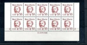 2196  Mint NH Plate Block of 10