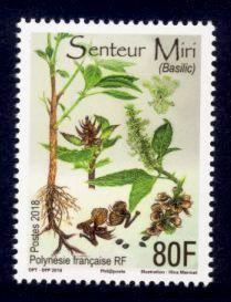 French Polynesia Sc# 1212 MNH Basil (Scented)