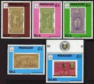 Paraguay 2312ad-2313,MNH.Mi 4445-2449. Olympics Barcelona-1992. Stamp on stamp.