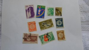 ISRAEL STAMPS MIXED CONDITION. LOT OF 10 STAMPS ( 7