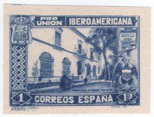 (I.B) Spain Postal : Ibero-American Exhibition 1Pta (proof)